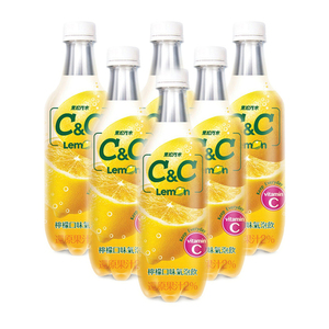 C&C Lemon Sparkling Drink 6 Pack (500ml per Bottle)