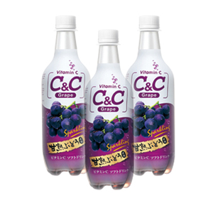 C&C Grape Sparkling Drink 3 Pack (500ml per Bottle)