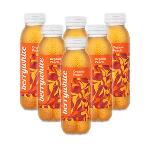 BerryWhite Organic Peach Still Drink 6 Pack (330ml per Bottle)