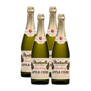 Martinelli's Classic Heritage Label Sparkling Apple Cider 4 Pack (750ml per Bottle)