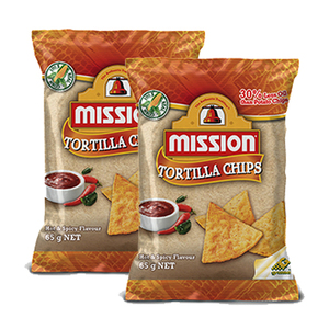 Mission Hot & Spicy Tortilla Chips 2 Pack (170g per Pack)