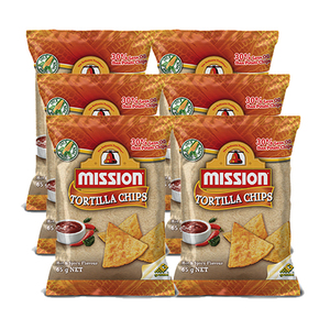 Mission Hot & Spicy Tortilla Chips 6 Pack (170g per Pack)