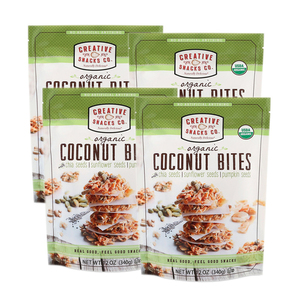Creative Snacks Organic Coconut Bites 4 Pack (340g per Pack)