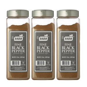 Badia Fine Black Pepper 3 Pack (453.6g per pack)