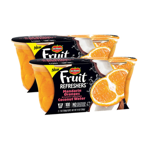 Del Monte Fruit Refreshers Mandarin Oranges in Slightly Sweetened Coconut Water 2 Pack (2x198g per Pack)