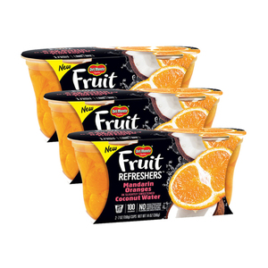 Del Monte Fruit Refreshers Mandarin Oranges in Slightly Sweetened Coconut Water 3 Pack (2x198g per Pack)