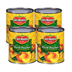 Del Monte Sliced Yellow Cling Peaches 4 Pack (825g per Can)