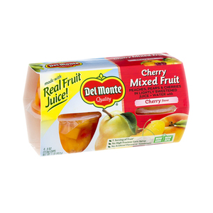 Del Monte Cherry Mixed Fruit Cup Snacks 4x113g