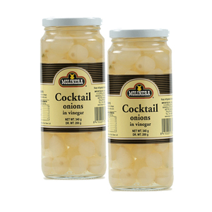 Molinera Cocktail Onions in Vinegar 2 Pack (340g per Bottle)