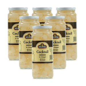 Molinera Cocktail Onions in Vinegar 6 Pack (340g per Bottle)
