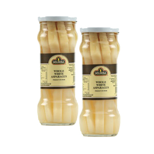 Molinera Whole White Asparagus 2 Pack (350g per Bottle)