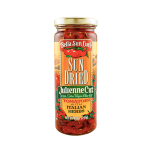 Bella Sun Luci Julienne Cut Sun Dried Tomatoes in Olive Oil with Italian Herbs 241g