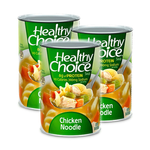 Healthy Choice Chicken Noodle Soup 3 Pack (425g per Can)