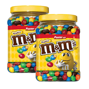 M&M's Peanut Pantry Size 2 Pack (1.7kg per pack)