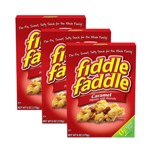 Fiddle Faddle Caramel Popcorn with Peanuts 3 Pack (170g per Box)