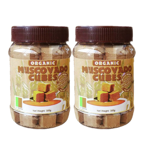 Raw Brown Sugar Muscovado Cubes 2 Pack (300g per pack)