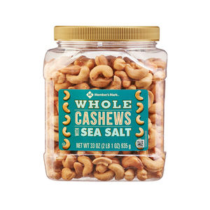 Member's Mark Roasted Whole Cashews with Sea Salt 935g