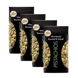 Wonderful Roasted & Salted Pistachios 4 Pack (668g per Pack)