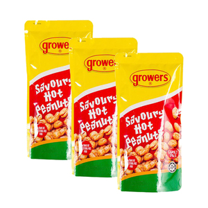 Growers Savory Hot Peanuts 3 Pack (230g per Pack)