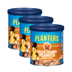 Planters Salted Caramel Peanuts 3 Pack (170g per Canister)