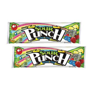 Sour Punch Rainbow Sour Straws 2 Pack (113g per Pack)