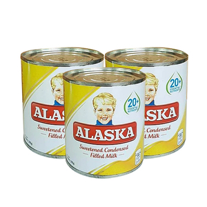 Alaska Sweetened Condensed Milk 3 Pack (300ml per pack)