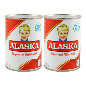 Alaska Evaporated filled Milk 2 Pack (370ml per pack)