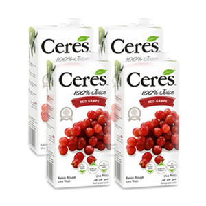 Ceres Red Grape Juice 4 Pack (1L per Pack)