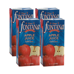 Fontana Apple Juice 4 Pack (1L per Pack)