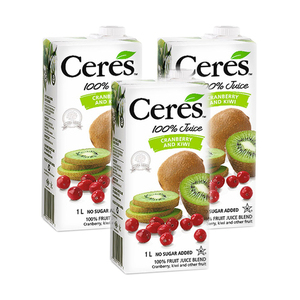 Ceres Cranberry and Kiwi 100% Fruit Juice Blend 3 Pack (1L per Pack)