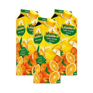 Pfanner 100% Orange Juice 3 Pack (1L per Pack)