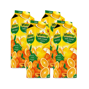 Pfanner 100% Orange Juice 4 Pack (1L per Pack)