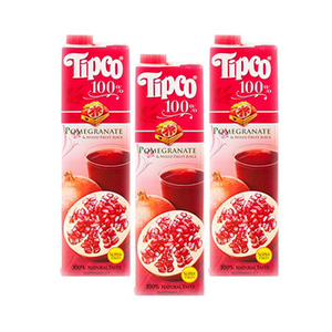 Tipco 100% Pomegranate & Mixed Fruit Juice 3 Pack (1L per Pack)