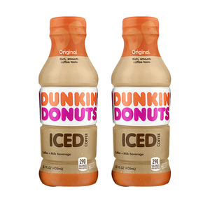 Dunkin Donuts Iced Coffee Original 2 Pack (405ml per pack)