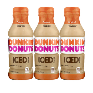 Dunkin Donuts Iced Coffee Original 3 Pack (405ml per pack)