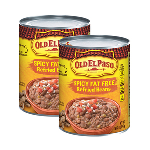 Old El Paso Spicy Fat Free Refried Beans 2 Pack (453g per Can)
