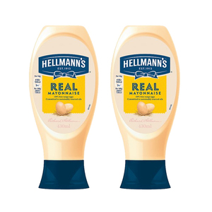 Hellmann's Real Squeezy Mayonnaise 2 Pack (430ml per pack)