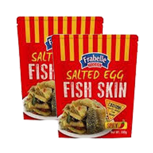 Frabelle Foods Salted Egg Fish Skin Spicy 2 Pack (100g per Pack)