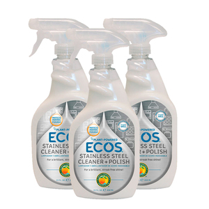 Ecos Stainless Steel Cleaner + Polish 3 Pack (650ml per pack)