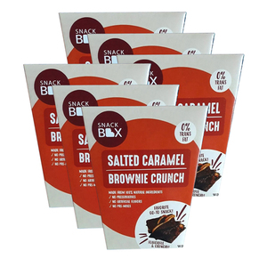 Snack Box Salted Caramel Brownie Crunch 6 Pack (125g per pack)