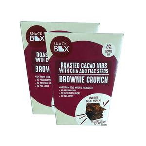 Snack Box Roasted Cacao Nibs Brownie Crunch 2 Pack (125g per pack)