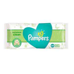 Pampers Complete Clean Unscented Baby Wipes 64's
