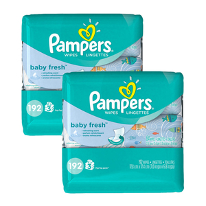 Pampers Baby Wipes Baby Fresh Scent 2 Pack (192's per pack)