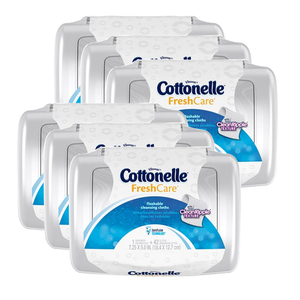 Cottonelle Fresh Care Flushable Wipes 6 Pack (42's per pack)