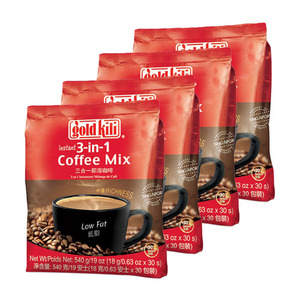 Gold Kili Low Fat Instant 3-in-1 Coffee Mix 4 Pack (540g per Pack)