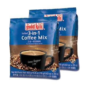 Gold Kili Less Sugar Instant 3-in-1 Coffee Mix 2 Pack (450g per Pack)