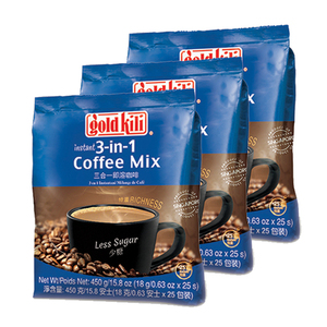 Gold Kili Less Sugar Instant 3-in-1 Coffee Mix 3 Pack (450g per Pack)