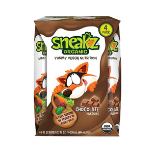 Sneakz Organic Yummy Veggie Nutrition Chocolate Milkshake 4x236ml