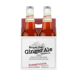 Bruce Cost Pomegranate with Hibiscus Unfiltered Ginger Ale 4x355ml