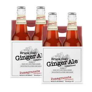 Bruce Cost Pomegranate with Hibiscus Unfiltered Ginger Ale 2 Pack (4x355ml per Pack)